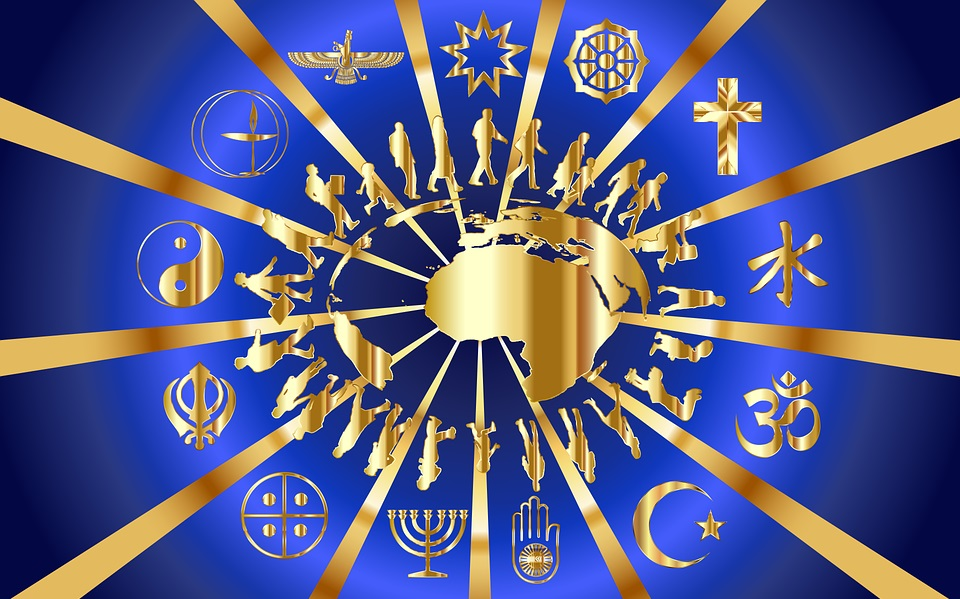 Each religion shares the intent to move humans toward higher awareness and balance in the world.